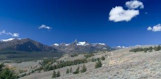 beartooth高速公路索引俯视峰顶飞行员 图库摄影