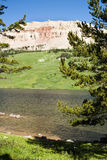 Beartooth Butte. With Beartooth Lake in the foregroud Royalty Free Stock Photo