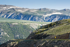 Beartooth Highway. Scenic view along the Beartooth Highway in Montana Royalty Free Stock Image