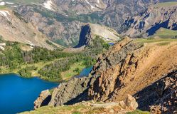 Beartooth Highway, Twin Lakes. Wyoming, USA. Stock Photography