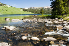 Beartooth Lake. Along the Beartooth Highway in Wyoming Stock Photography