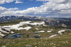 Beartooth mountain Spring snow melt Stock Photos