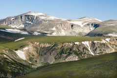 Beartooth Mountains. Scenic view along the Beartooth Highway in Montana Stock Photo