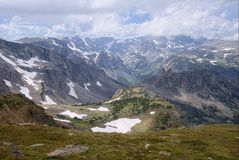 The Beartooth Mountains of Montana royalty free stock photo