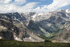 Beartooth Pass. View of Beartooth Pass from the Beartooth Highway Stock Image