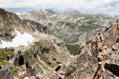 Beartooth Pass. View of the mountains and valleys from the Beartooth Highway Stock Photos
