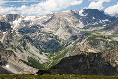 Beartooth Pass. View of the Bears Tooth from the Beartooth Highway Stock Images