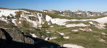 Beartooth Pass Panorama Royalty Free Stock Images