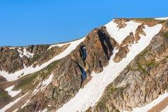 Beartooth Pass. Peaks of Beartooth Mountains, Wyoming, USA. royalty free stock photos