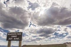 Beartooth Pass Summit Stock Photo
