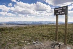 Beartooth Pass Summit Stock Images