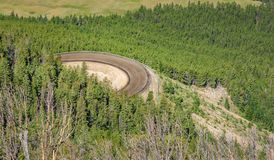 Beartooth Scenic Curvy Highway. Montana, Wyoming. USA. Curvy road, turn Stock Photography