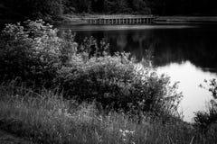 Beartown Lakes. Long Exposure of bridge in the water stock image