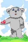 Beary-cuore Immagine Stock