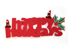 Beary Happy Holidays Royalty Free Stock Images