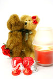 Beary molto nell'amore Immagini Stock Libere da Diritti