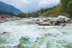 Beas river, Manali Royalty Free Stock Photo