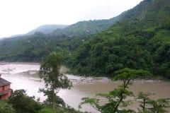 Beas Valley 2. Himachal Pradesh, India, the Beas River stock photo