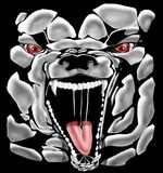 Beast. A beast with a big mouth royalty free illustration