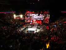 The Beast Brock Lesner enters the SAP Center with Paul Heyman he Stock Image