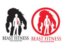 Beast Fitness Logo Stock Photography