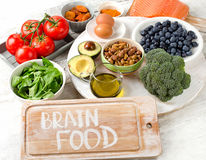 Beast Foods for brainpower. Top view Royalty Free Stock Images