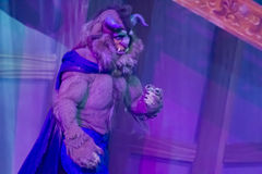 The Beast. GREEN BAY, WI - FEBRUARY 10: The Beast from Beauty and the Beast at the Disney Princesses show at the Resch Center on February 10, 2012 in Green Bay Royalty Free Stock Photography