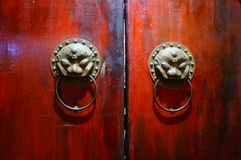 The beast Head Knocker. China traditional architectural decoration Stock Photography
