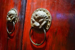 The beast Head Knocker. China traditional architectural decoration Stock Image