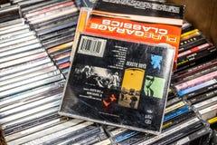 Beastie Boys cd albumu korzenia puszek 1995 na pokazie dla sprzeda?y, s?awna Ameryka?ska hip hop grupa zdjęcie royalty free