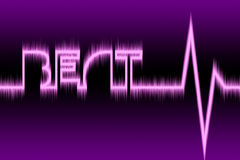 Beat. An illustration for a concept of heartbeat Royalty Free Stock Photo