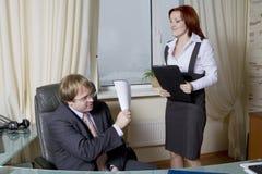 beat boss furious going secretary to Στοκ φωτογραφία με δικαίωμα ελεύθερης χρήσης