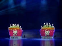 Beat a drum dance. Tenth Jiangxi children's Art Festival held in Nanchang, photographed in September 6, 2013 stock image