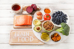 Beat Foods for your brain Stock Photo