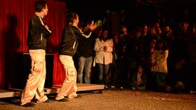 The Beat Goes On performed by The Beat Brothers from Italy stock video