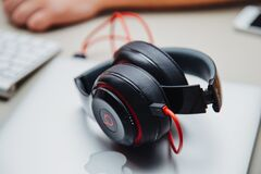 Beat headphones Stock Images