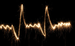 Beat heart sparkler Royalty Free Stock Photography