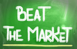 Beat The Market Concept Stock Photography