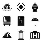 Beat nature icons set, simple style. Beat nature icons set. Simple set of 9 beat nature vector icons for web isolated on white background Stock Photography