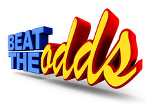 Beat the odds Royalty Free Stock Photos