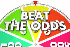Beat the Odds Spinning Wheel Chance Win Royalty Free Stock Photography