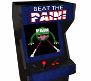 Beat Pain Treatment Medicate Feel Better Arcade Video Game 3d Il Royalty Free Stock Photo