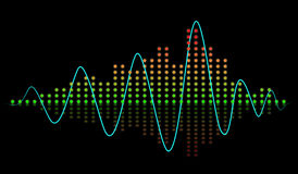 Beat sound equalizer Royalty Free Stock Images
