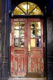 Beat up doorway Stock Photography