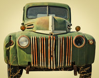 Beat Up Truck Cut Out of a Junkyard Stock Images