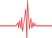 Beat Wave. Illustration of a red beat wave Royalty Free Stock Photo