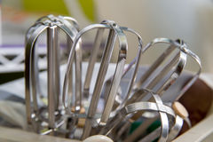 Beaters μετάλλων για τους ηλεκτρικούς αναμίκτες Στοκ εικόνες με δικαίωμα ελεύθερης χρήσης