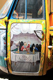 Beati Paoli, Palermo. Lambretta with drawings depicting the famous Beati Paoli in Palermo Stock Photos