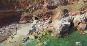 Beatifil secret beach stock footage