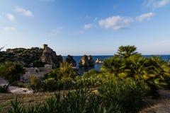 Beatifoul land i Sicilien Royaltyfri Fotografi